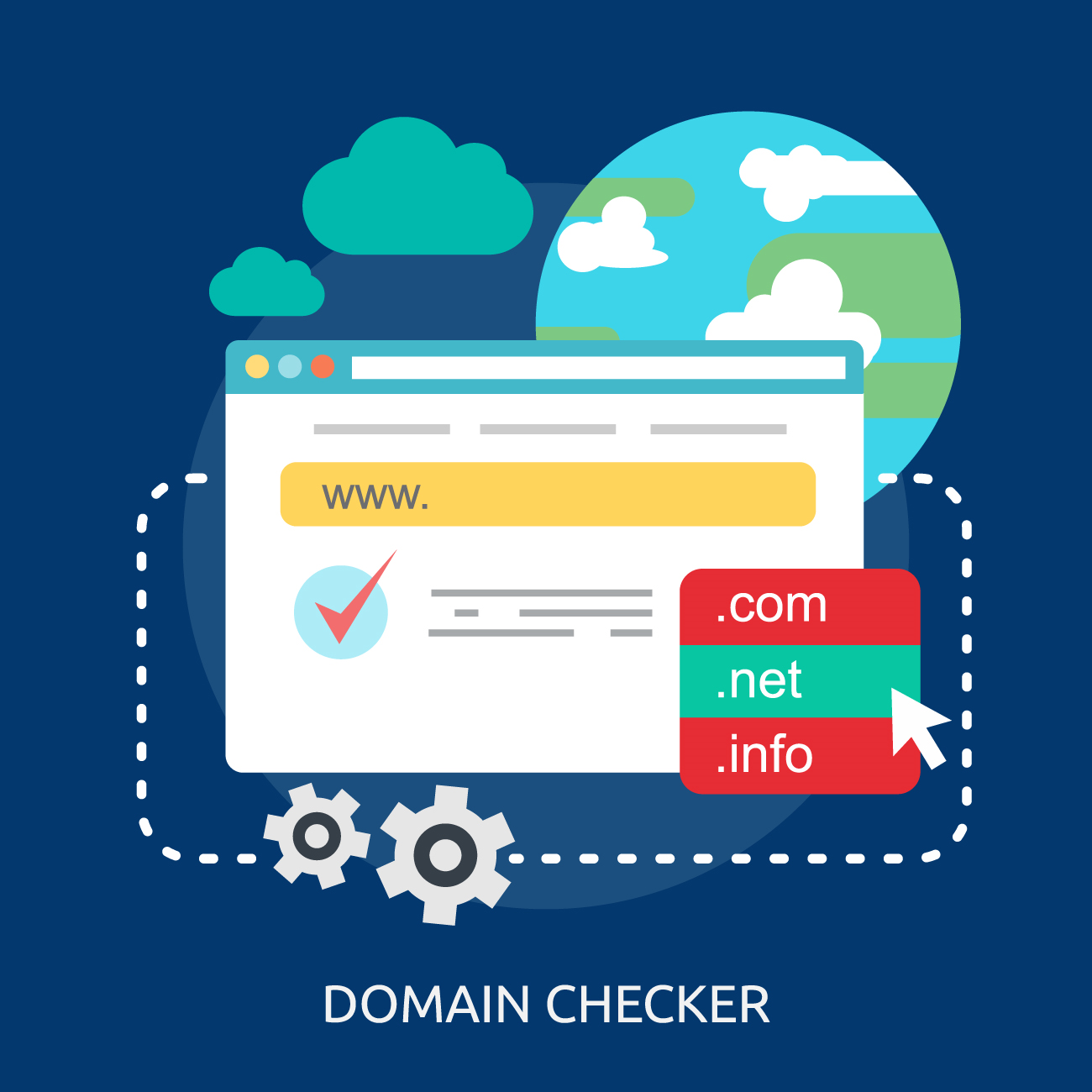 Domain checker лого